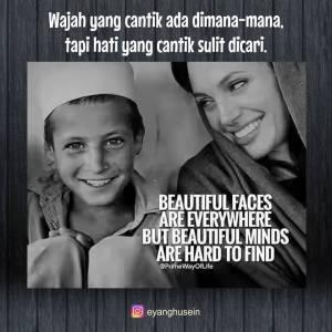 wajah cantik hati baik